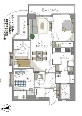 駒沢大学 暮らしやすい動線で毎日を快適に 間取り図