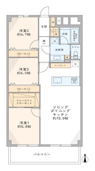 江戸川橋 子育て世代に嬉しい住環境 間取り図