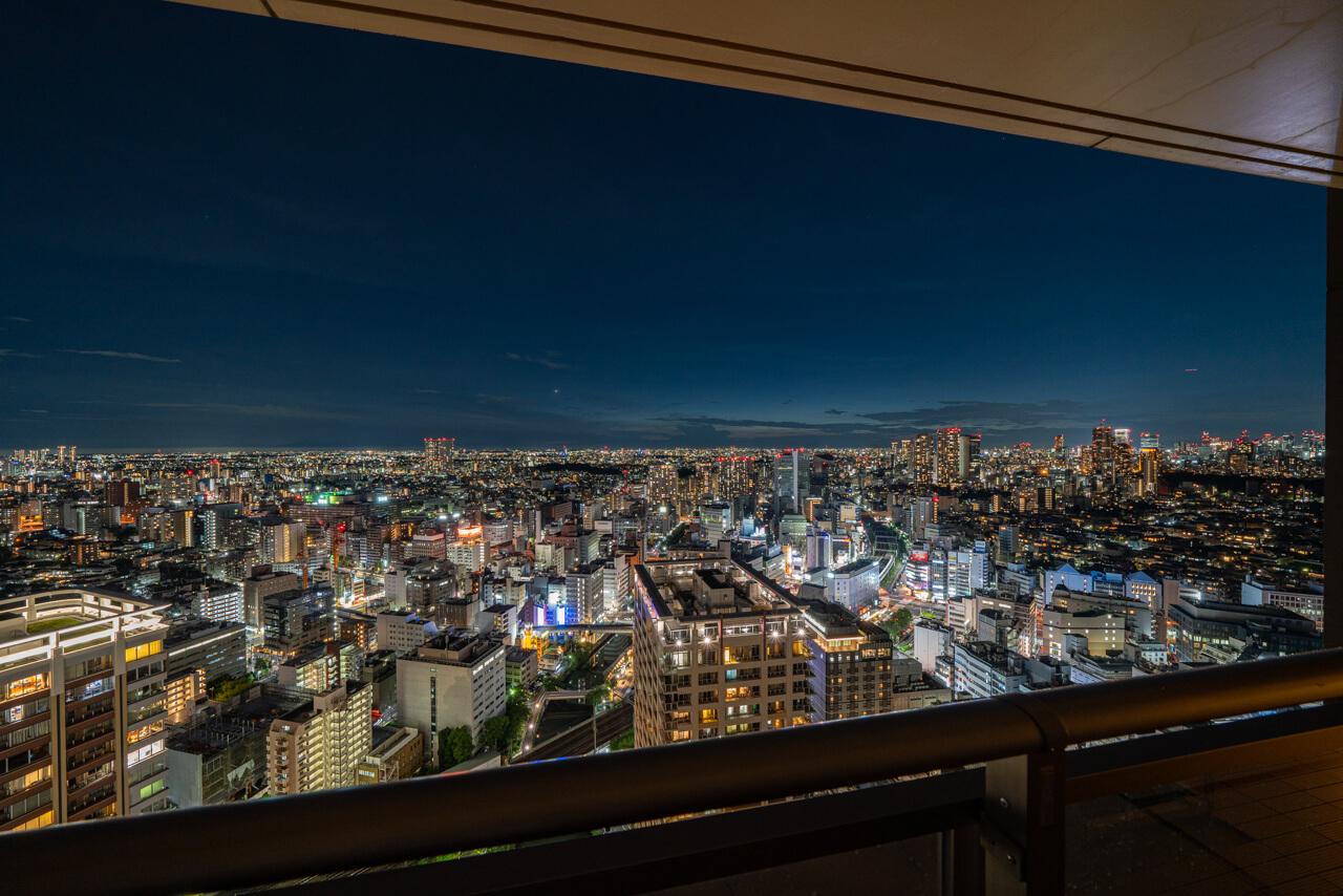 五反田 38階からの開放的な夜景