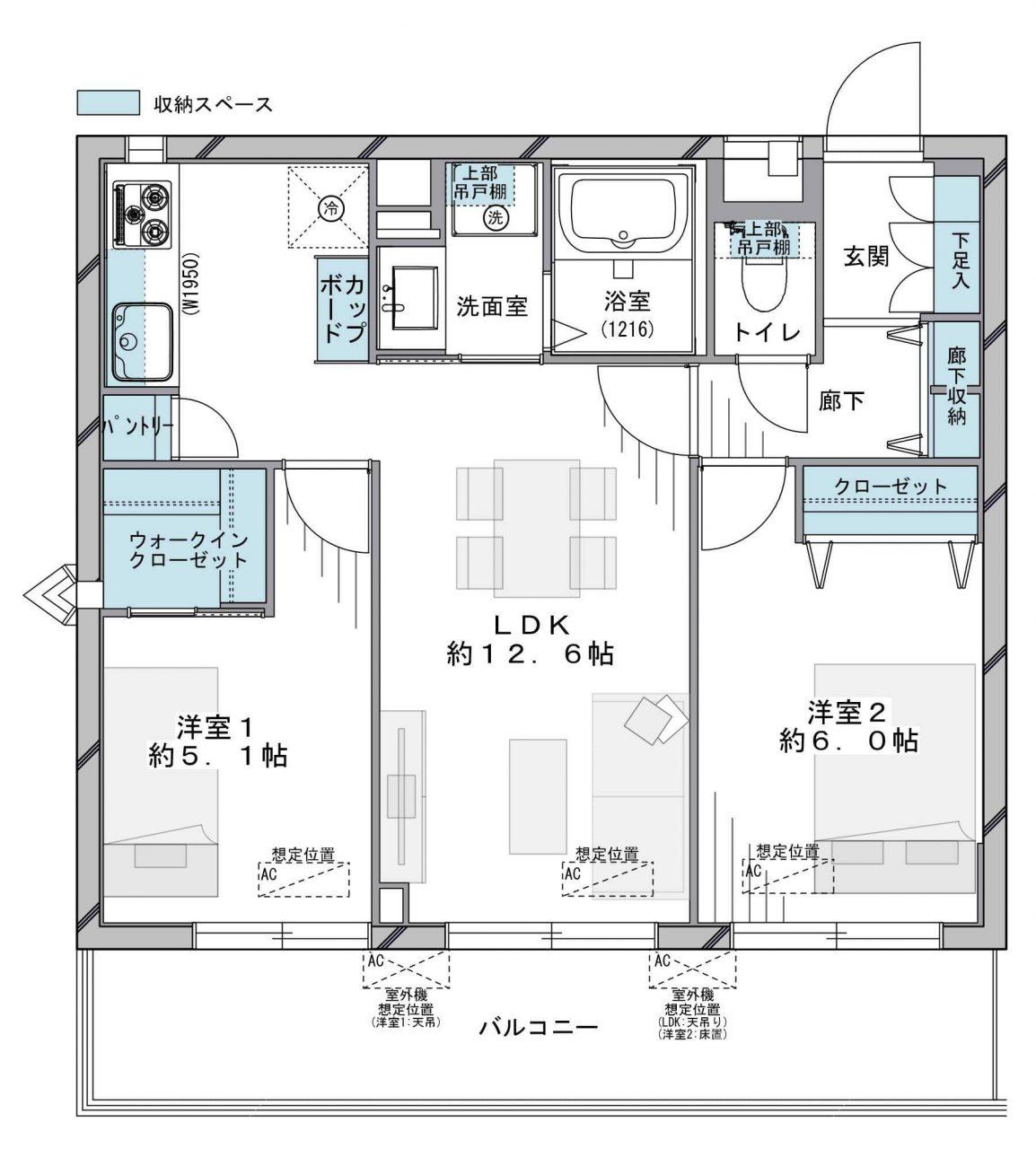 武蔵小杉 充実の商業施設で生活しやすい住環境 間取り図