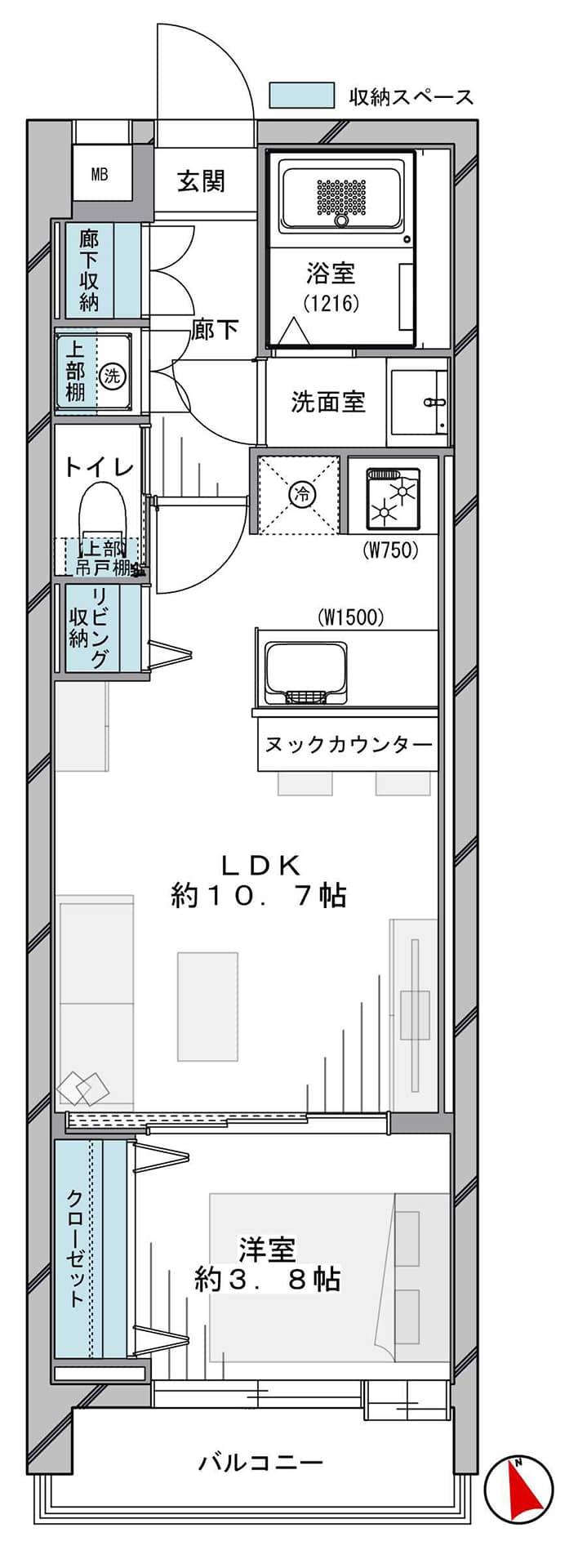 渋谷/代官山 洗練された街並みで、多彩な利便性を自在に享受 間取り図
