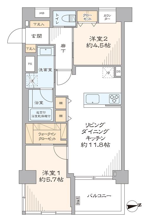 東新宿 充実した生活環境で快適な暮らし 間取り図